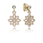 pandora earrings gold