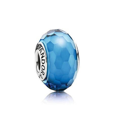 410e7a27f7c Fascinating Aqua Charm, Murano Glass | PANDORA Jewelry US