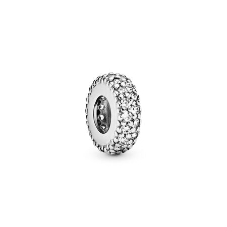 Clear Sparkle Spacer Charm, Sterling silver, Cubic Zirconia - PANDORA - #791359CZ