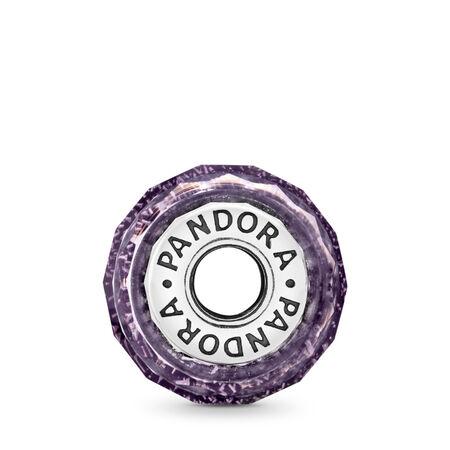 Dark Purple Shimmer Charm, Murano Glass