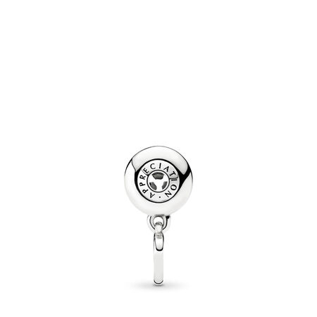 APPRECIATION Dangle Charm, Sterling silver, Silicone - PANDORA - #796089