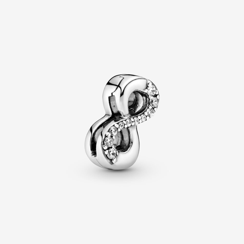 Sparkling Infinity Clip Charm