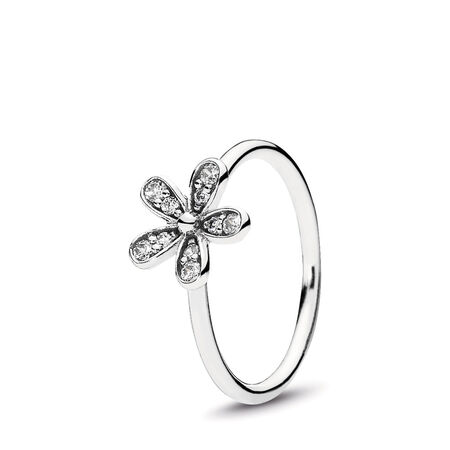 Dazzling Daisy Ring, Clear CZ, Sterling silver, Cubic Zirconia - PANDORA - #190932CZ