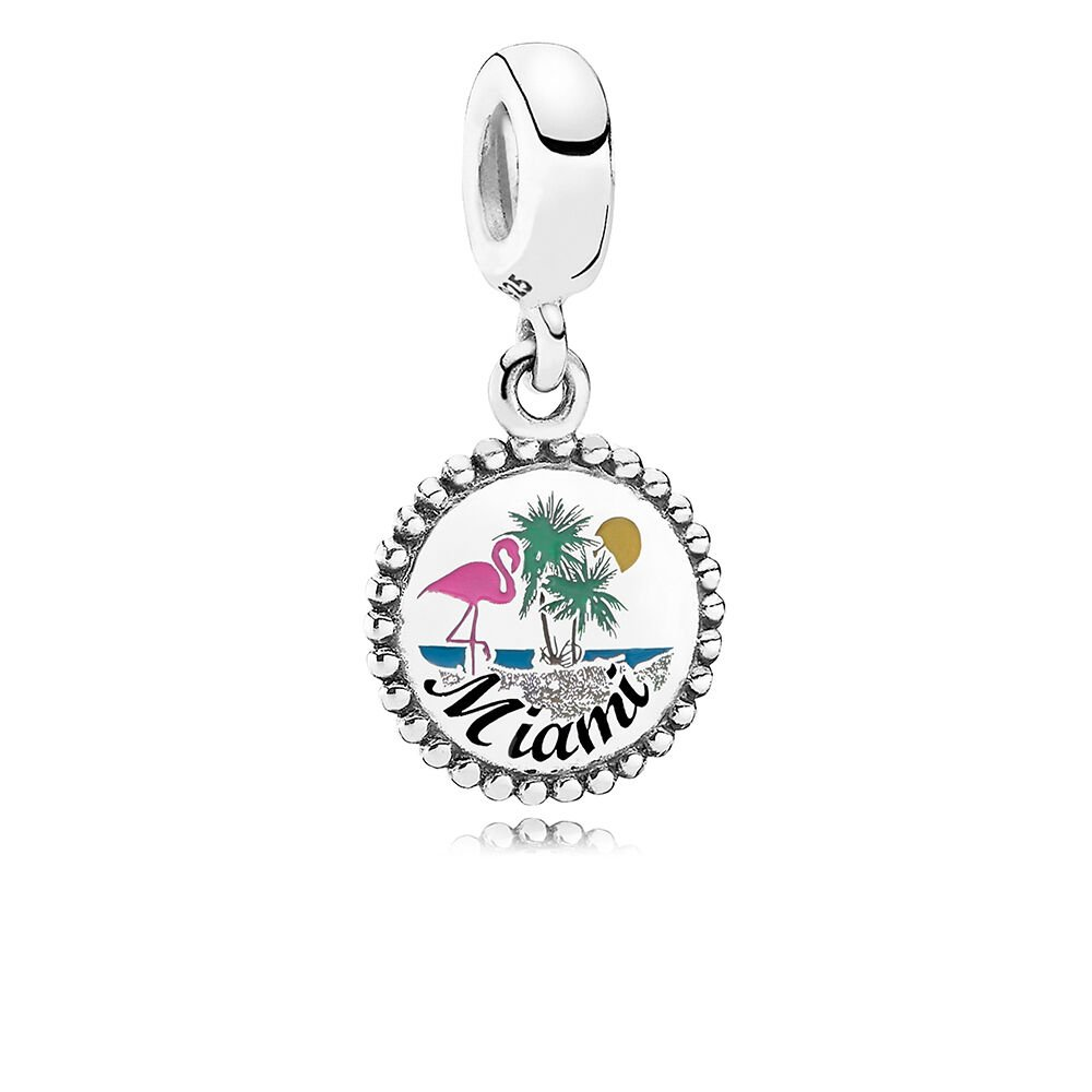 Miami Beach Dangle Charm Mixed Enamel