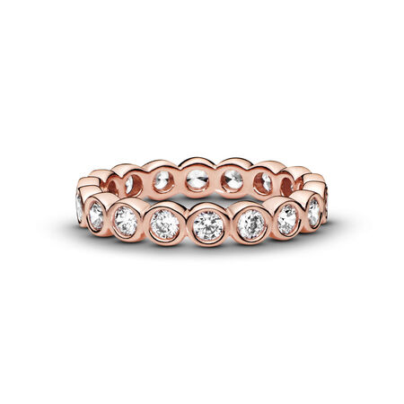 Alluring Brilliant Ring, PANDORA Rose™ & Clear CZ