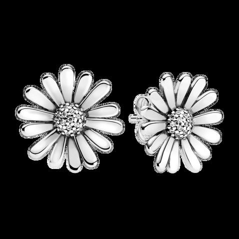 Pavé Daisy Flower Statement Stud Earrings