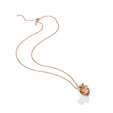 Sparkling Lion Princess Heart Necklace, Pandora Rose™