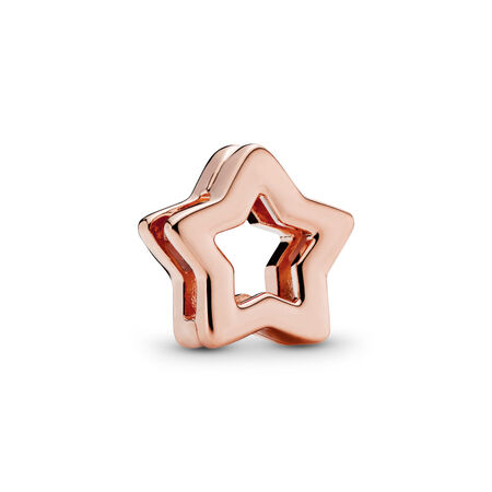 PANDORA REFLEXIONS™ Sleek Star Clip Charm, PANDORA Rose™