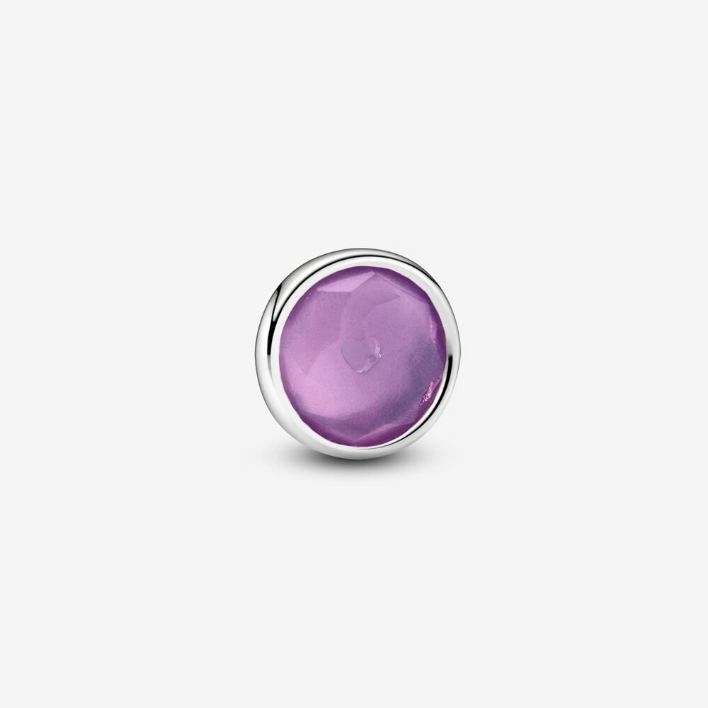 Purple February Birthstone Locket Element