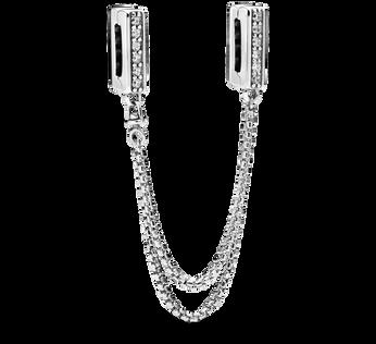 Pandora Reflexions™ Sparkling Safety Chain Clip Charm