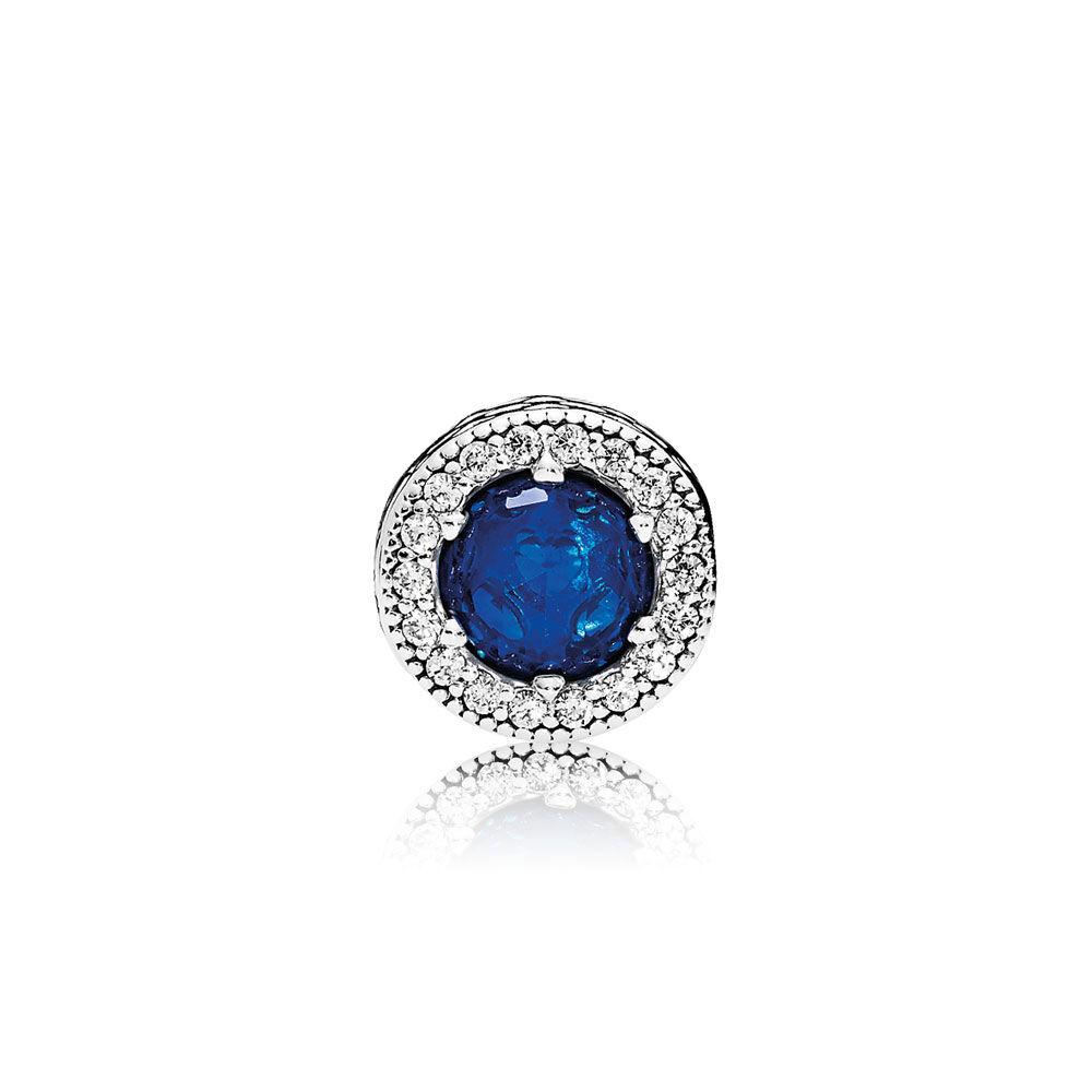 Peace Charm Royal Blue Crystals Amp Clear Cz Pandora