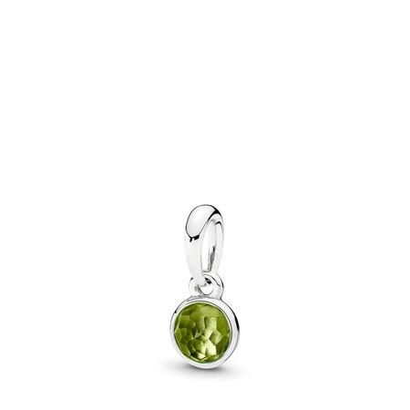 7b7b08697 August Droplet Pendant, Peridot Sterling silver, Green, Peridot
