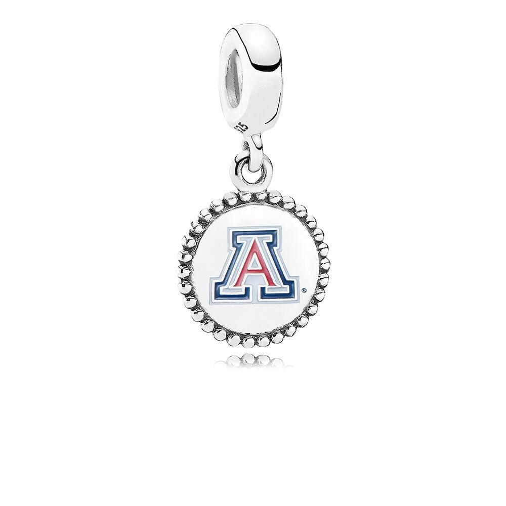 University Of Arizona Dangle Charm Blue Red Enamel Pandora
