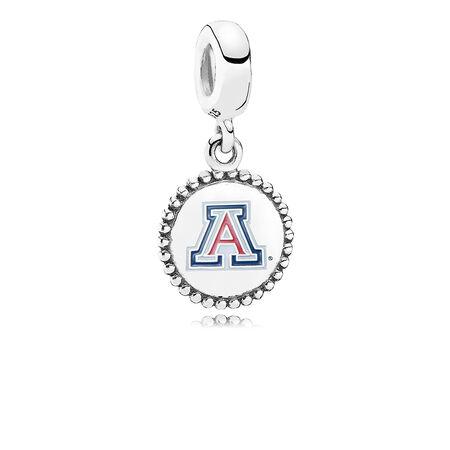 University of Arizona Dangle Charm, Blue & Red Enamel