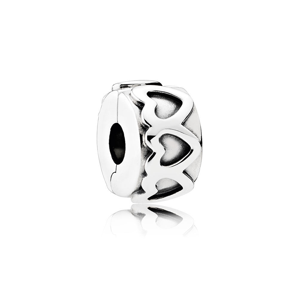 Row Of Hearts Clip Pandora Jewelry Us