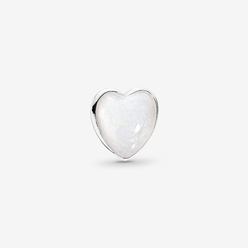 Pearlescent Heart Petite Locket Charm