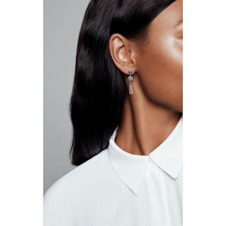 Regal Droplets Earrings, Clear CZ