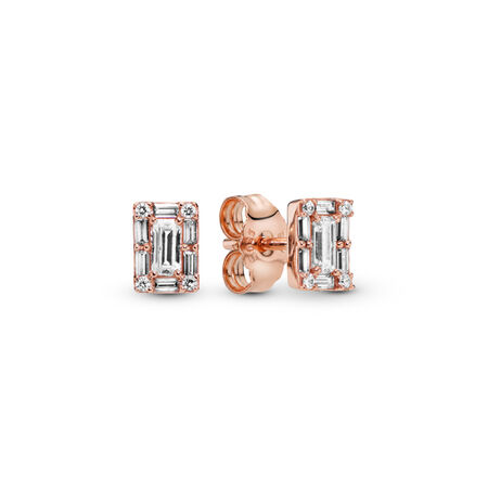 Luminous Ice Stud Earrings, PANDORA Rose™ & Clear CZ