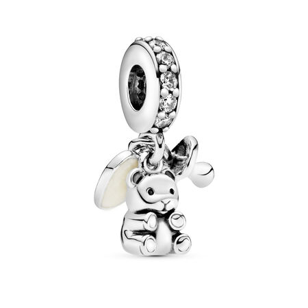 Baby Treasures Dangle Charm, Clear CZ