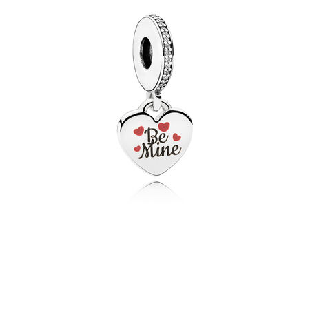 Be Mine Engraved Heart Dangle