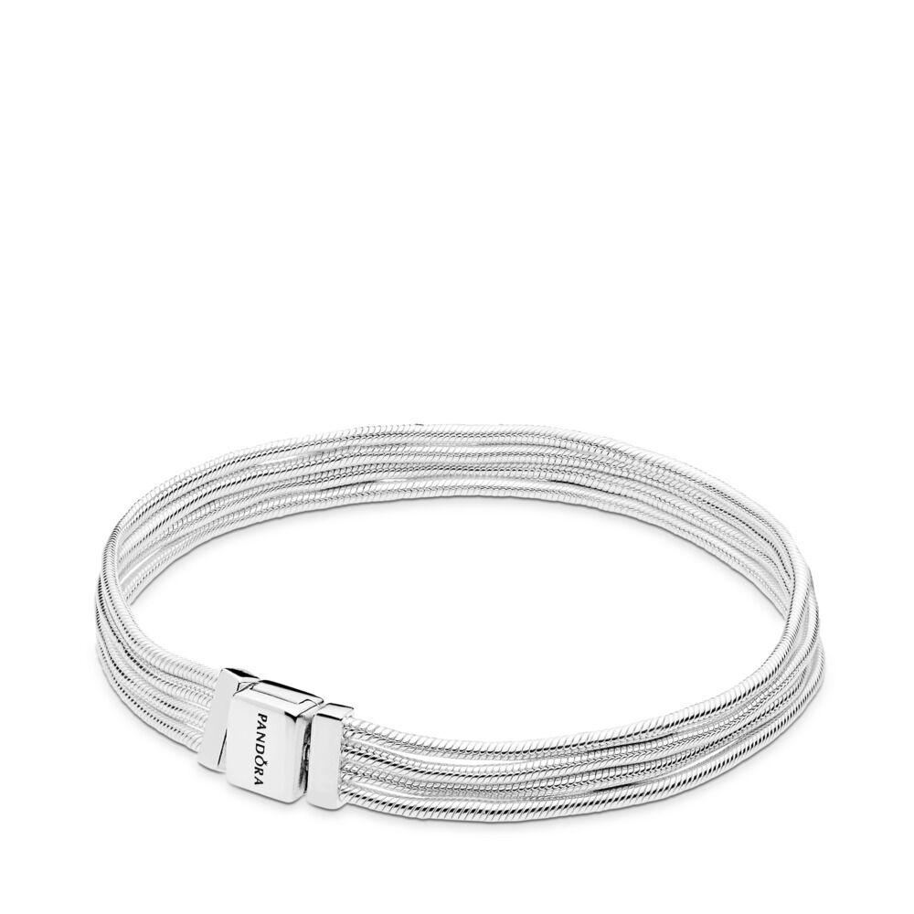 8561da640 Pandora Reflexions™ Multi Snake Chain Bracelet, Sterling silver - PANDORA -  #597943
