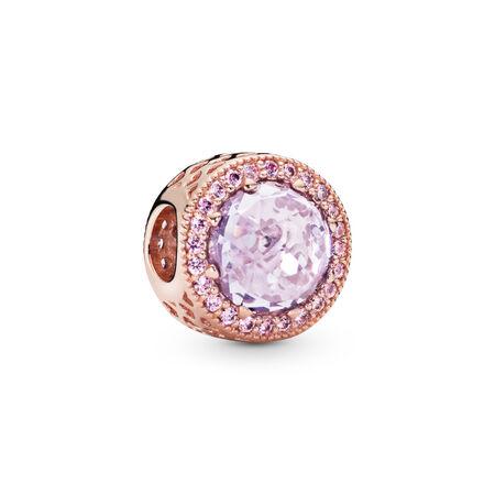 Lavender  Radiant Hearts Charm, PANDORA Rose™ & Lavender & Pink CZ