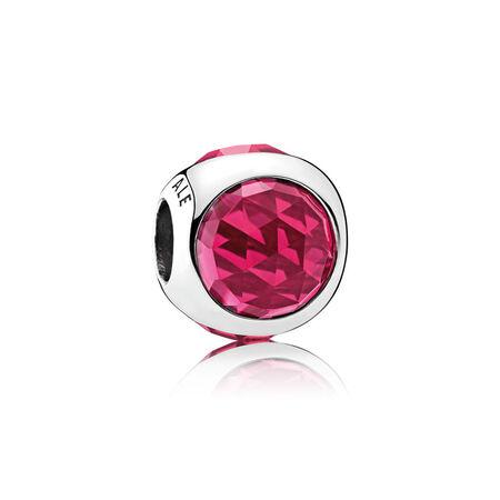 Radiant Droplet Charm, Cerise Crystals