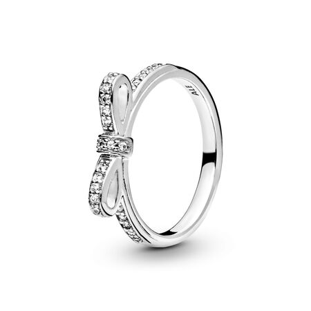 00c258dc2f54d Sparkling Bow Ring, Clear CZ Sterling silver, Cubic Zirconia