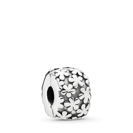 Flowers Clip, Sterling Silver Oxidised - PANDORA - #790533