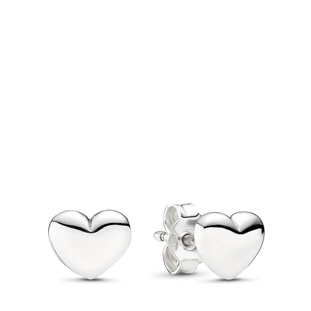 Hearts Stud Earrings Sterling Silver
