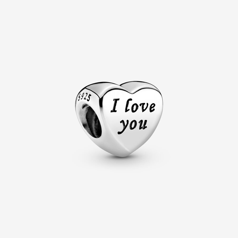Polished I Love You Heart Charm