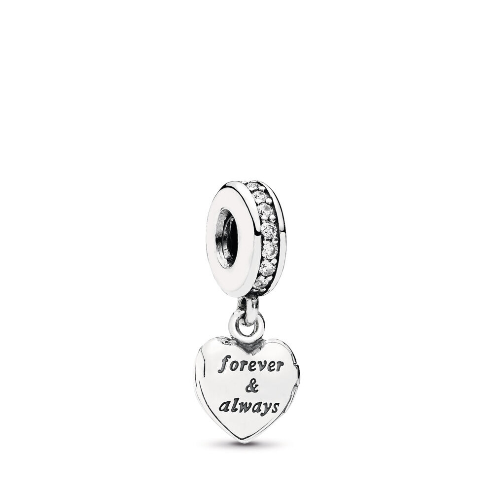 45ab914ba My Beautiful Wife Dangle Charm, Clear CZ, Sterling silver, Cubic Zirconia -  PANDORA