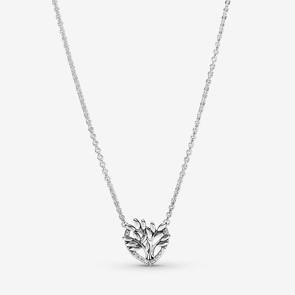 Heart Family Tree Collier Necklace | Sterling silver | Pandora US