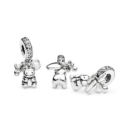 Baby Treasures Dangle Charm, Clear CZ, Sterling silver, Enamel, White, Cubic Zirconia - PANDORA - #792100CZ