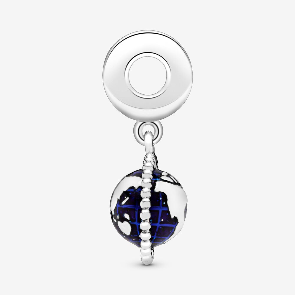 charm pandora globe