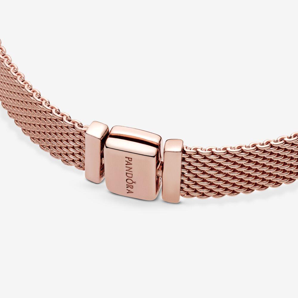 Pandora Reflexions™ Mesh Bracelet | Rose gold plated | Pandora US