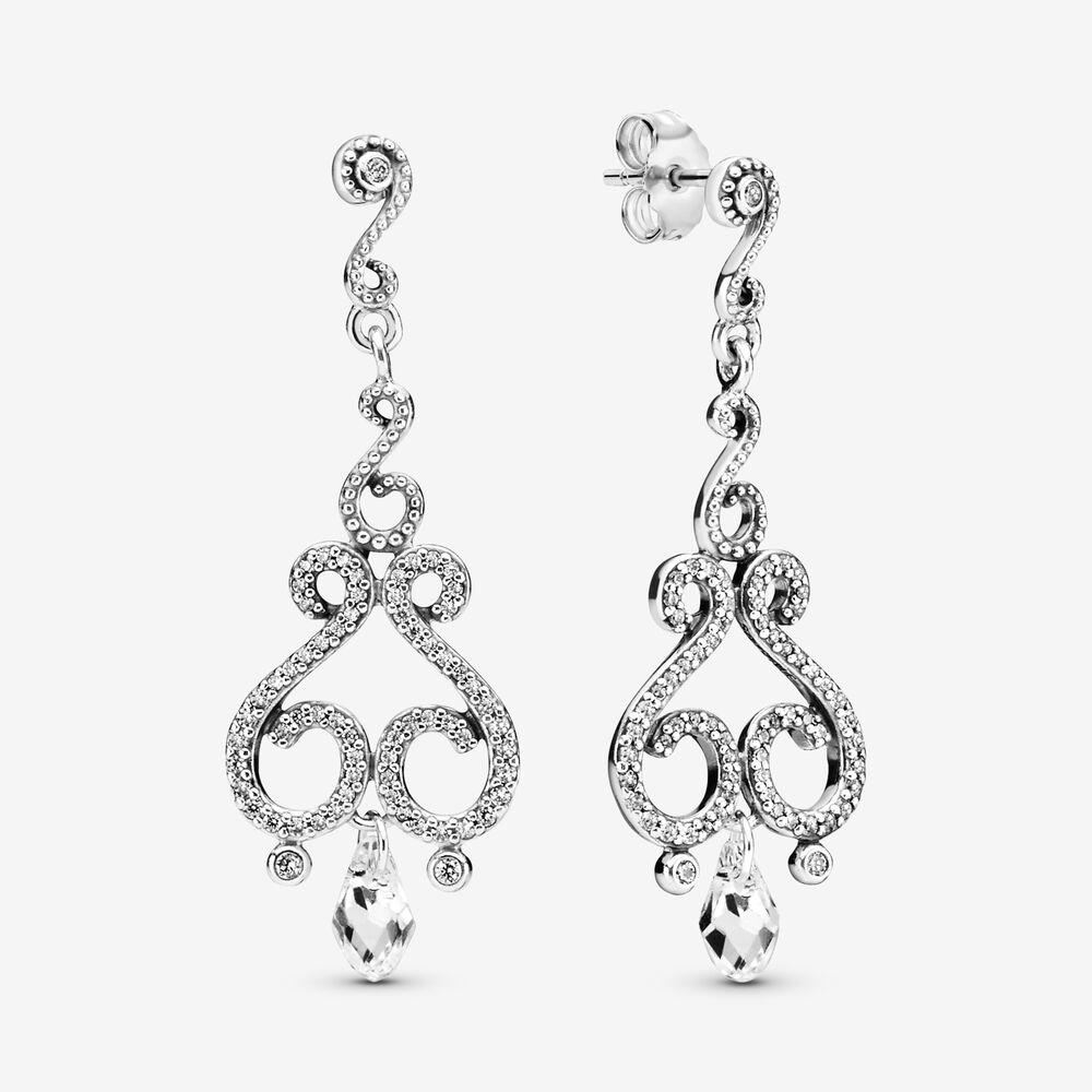 Chandelier Swirls Drop Earrings