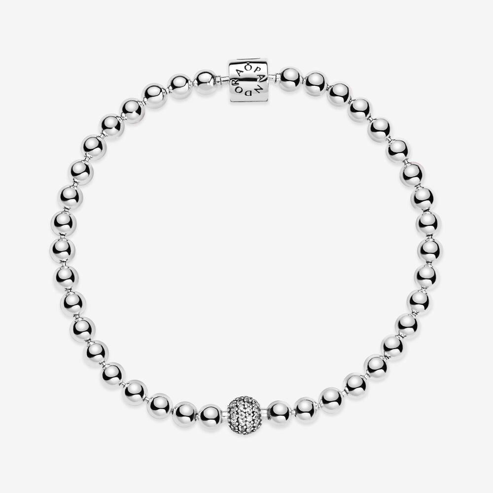 Beads & Pavé Bracelet | Sterling silver | Pandora US