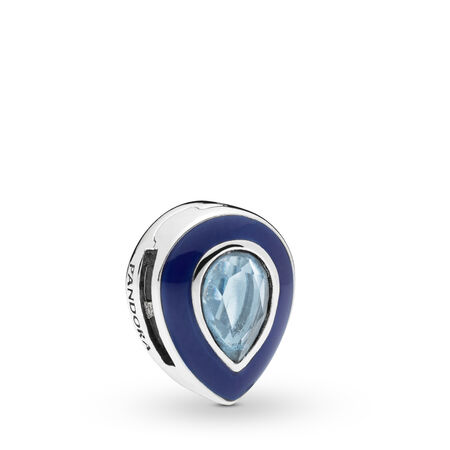 Pandora Reflexions™ Dazzling Blue Droplet Clip Charm