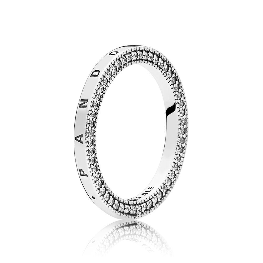 Pandora Signature Hearts Of Pandora Ring Clear Cz
