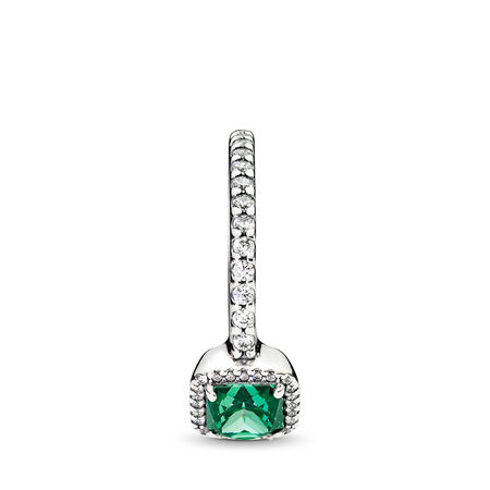 Timeless Elegance, Green & Clear CZ, Sterling silver, Green, Cubic Zirconia - PANDORA - #190947GCZ
