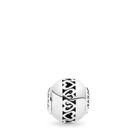 LOVE Charm, Sterling silver, Silicone - PANDORA - #796070