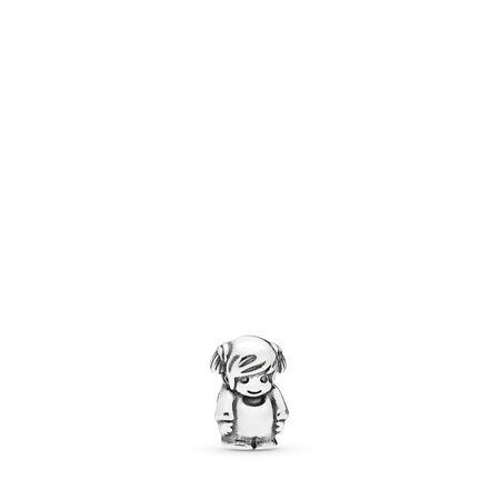 Little Girl Petite Locket Charm, Sterling silver - PANDORA - #796312