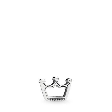 Crown Petite Locket Charm, Sterling silver - PANDORA - #797043
