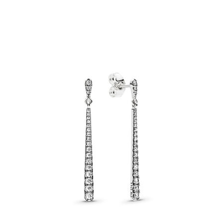 55a5c08ae Shooting Stars Dangle Earrings, Clear CZ Sterling silver, Cubic Zirconia