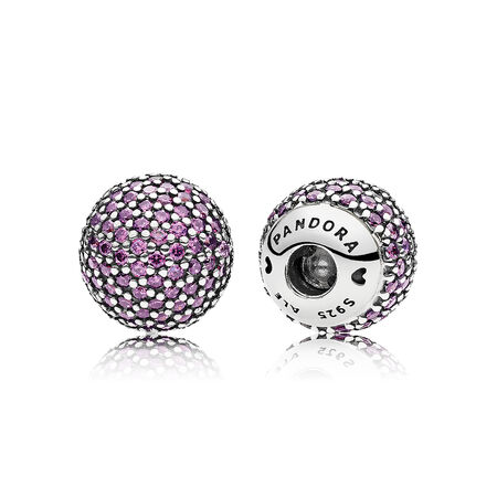 Pavé Open Bangle Caps, Fancy Purple CZ