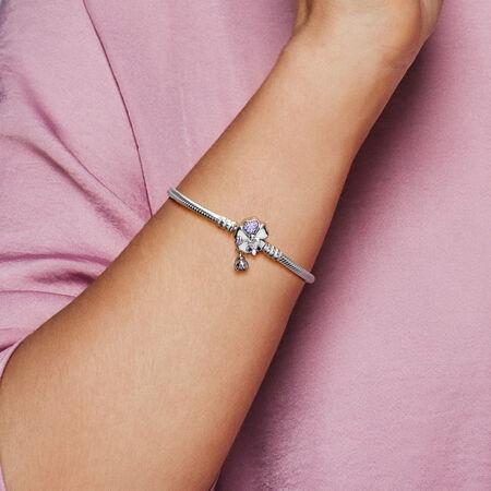 Wildflower Meadow Clasp Sterling Silver Bracelet