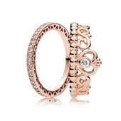 PANDORA Rose™ Princess Ring Stack