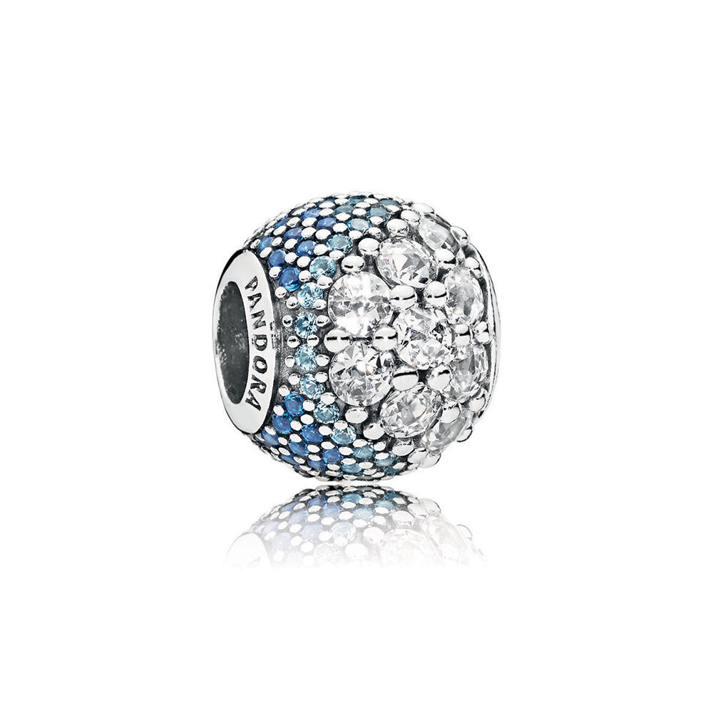 Blue Enchanted Pav 233 Charm Blue Amp Clear Cz Pandora