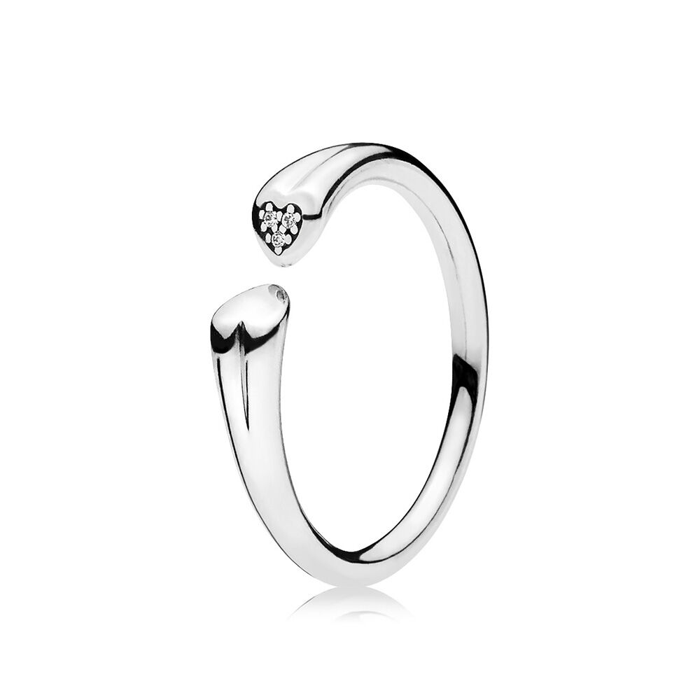 Two Hearts Ring, Clear CZ | PANDORA Jewelry US